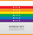 rainbow info art vector image