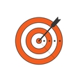 Target arrow icon concept of goal aim vector image