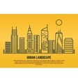 Urban landscape in line style vector image