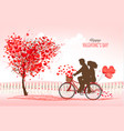 valentines day background with a heart shaped vector image