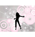 dancing female vector image vector image