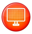 Computer monitor icon flat style vector image vector image