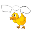A baby duck thinking vector image vector image