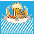 Beer card Bavaria background vector image vector image