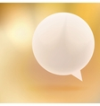 Abstract background with Speech bubble on gold vector image vector image