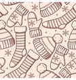 Winter clothes seamless vector image