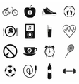Healthy life style simple set vector image
