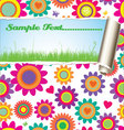 Flower pattern - damaged paper with place for text vector image vector image