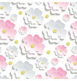Seamless pattern with pink and white sakura vector image