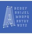 Alphabet set 3d Design vector image