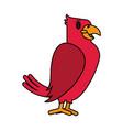 color image cartoon eagle wild animal vector image