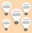 Flat style light bulb infographic template vector image