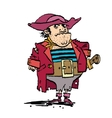 Funny pirate captain vector image