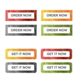 Get it now color buttons vector image