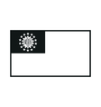 Myanmar national flag monochrome on white vector image