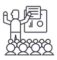 presentationmeetinglecture line icon vector image