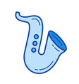 saxophone line icon vector image