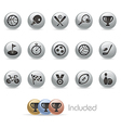 Sports Icons MetalRound Series vector image
