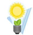 The sun in a light bulb vector image