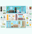 bathroom interior design infographic concept vector image