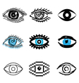 icons eye vector image vector image