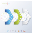 Abstract design infographic vector image vector image