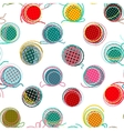 Colorful Seamless Yarn Balls Pattern vector image