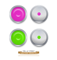 paint cans isolated on white background top view vector image