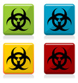 Biohazard sign buttons vector image