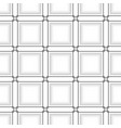 black line square on white abstract background vector image