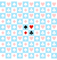 Card Suit Chess Board Blue White Background vector image
