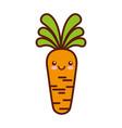 carrot fresh vegetable kawaii character vector image