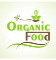 creative organic food design word concept vector image