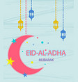festival of sacrifice eid al adha greeting card vector image