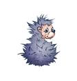 hadgehog in cartoon style vector image