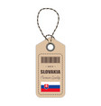 hang tag made in slovakia with flag icon isolated vector image