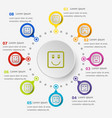 infographic template with square face icons vector image