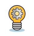 Light bulb and gear wheel design vector image