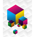 Multicolored cute cubes background vector image
