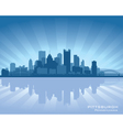 Pittsburgh Pennsylvania skyline vector image