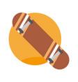 skate board emblem extreme sport graphic vector image
