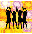 dancing females vector image vector image