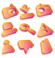 Media translucent acrylic icons vector image vector image
