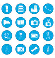 photography icon blue vector image
