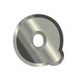letter q steel font metal alphabet sign iron abc vector image