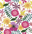 Seamless print with wild flowers vector image