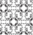 Black-white floral seamless ornament vector image