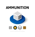 Ammunition icon in different style vector image