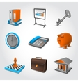 Business Realistic Icons vector image vector image