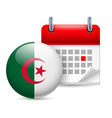 Icon of national day in algeria vector image